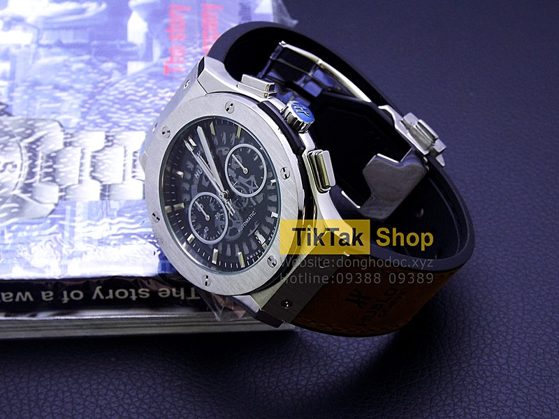 ĐỒNG HỒ BIGBANG VENDOME TITANIUM SILVER SPECIAL EDITION LIMITED LEATHER STRAP SỐ 12