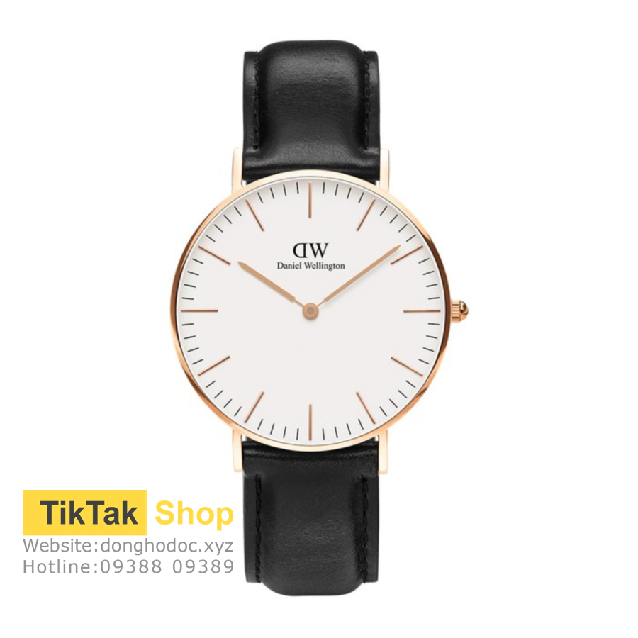 ĐỒNG HỒ DW DANIEL WELLINGTON CLASSIC WHITE SHEFFIELD - ROSEGOLD 36MM - NỮ
