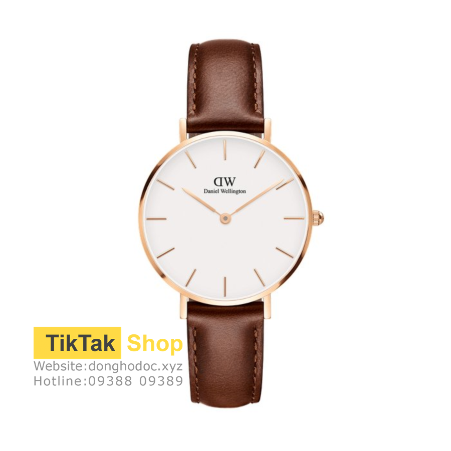 ĐỒNG HỒ DW DANIEL WELLINGTON CLASSIC WHITE PETITE ST MAWES - ROSEGOLD 32MM - NỮ