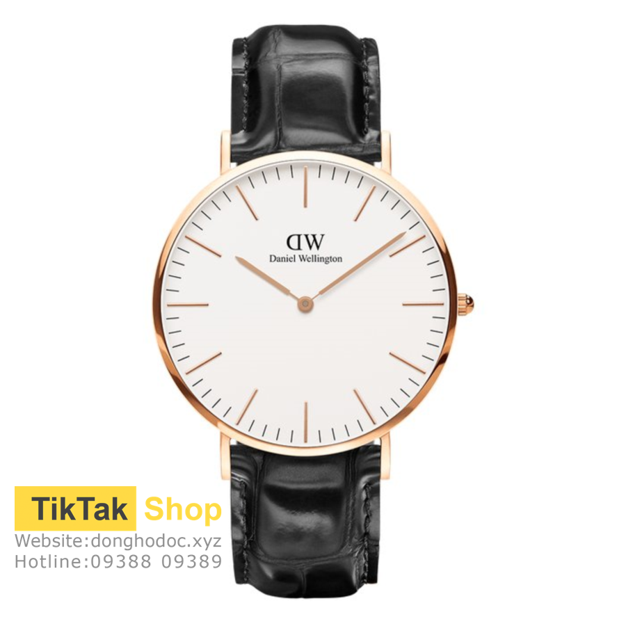 ĐỒNG HỒ DW DANIEL WELLINGTON CLASSIC WHITE READING - ROSEGOLD 40MM - NAM