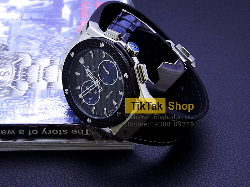 ĐỒNG HỒ HUBLOT BIGBANG VENDOME TITANIUM SILVER CARBON EDITION LEATHER STRAP SỐ 7